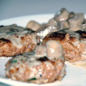 Mini hamburger con funghi e gorgonzola